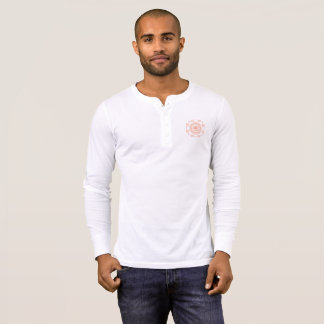 Men's Henley Pocket Sri Yantra Shirt Orange