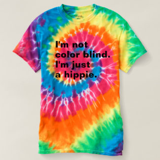 Men's LOL T-Shirt: Color Blind Hippie (Tie-dye) T-Shirt