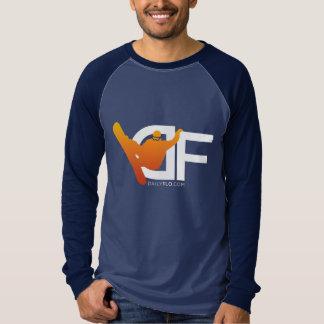 Men's Long-Sleeve DF Logo Orange Shirt