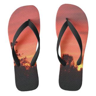 Men's majestic sunset flip flops. jandals