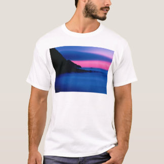 Men's Ocean Sunset Printed Short Sleeve Tees