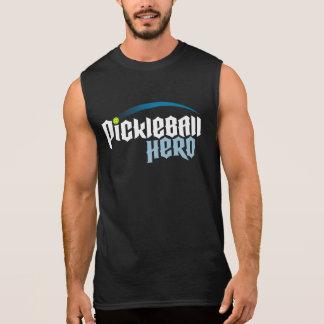 """Men's """"Pickleball Hero"""" Sleeveless T-shirt (Black)"""