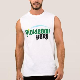 """Men's """"Pickleball Hero"""" Sleeveless T-shirt (White)"""