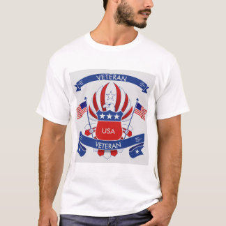 Men's Red White and Blue USA Veteran T-Shirt