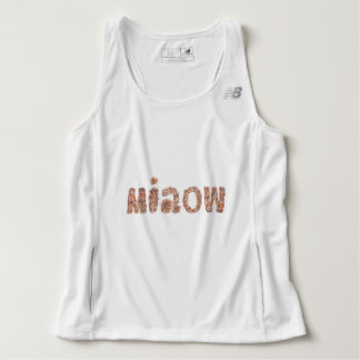 Men's running tank top with 'miaow'