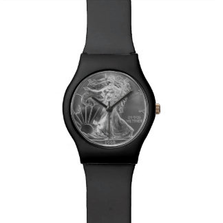 Men's Silver Dollar Wristwatch