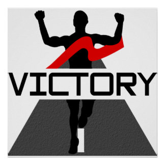 Mens Victory Runner Poster
