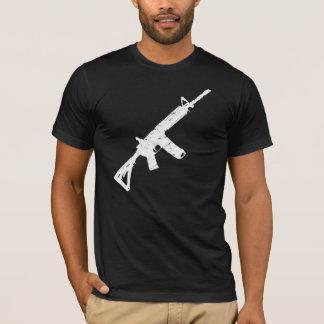 Men's White Wash Worn AR15 Rifle T Shirt