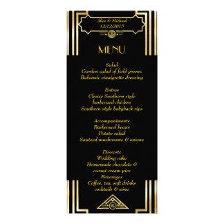 Menu Art Deco Gatsby Style, Art Deco Theme, 1920's Personalized Rack Card
