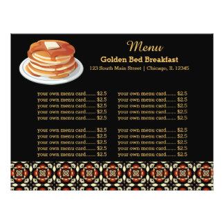 Menu Breakfast Personalized Flyer