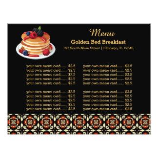 Menu Breakfast Full Color Flyer