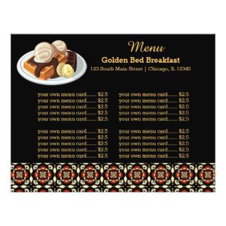 Menu Breakfast Custom Flyer