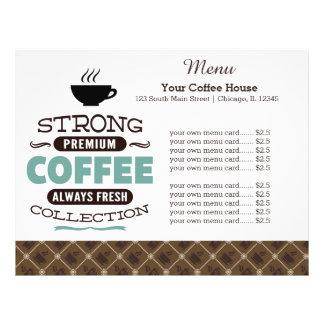 Menu card coffee house flyers