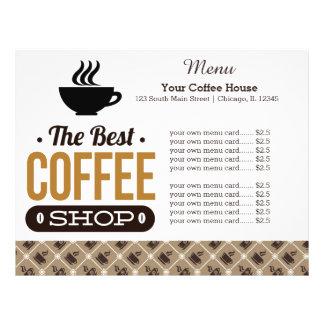 Menu card coffee house flyer