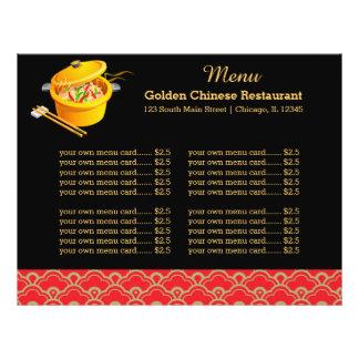 Menu Chinese restaurant Flyer