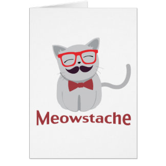 Meowstache Greeting Cards