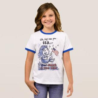 Mer-MAID in the USA girls (ringer) t-shirt