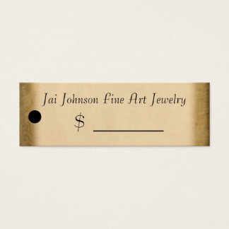 Merchandise Price Tags (Gold) Mini Business Card