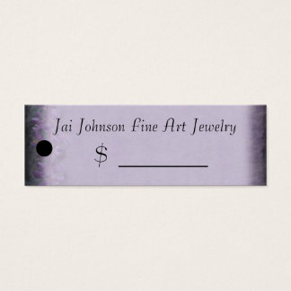 Merchandise Price Tags (Lavender) Mini Business Card