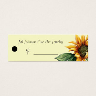 Merchandise Price Tags (Sunflower)