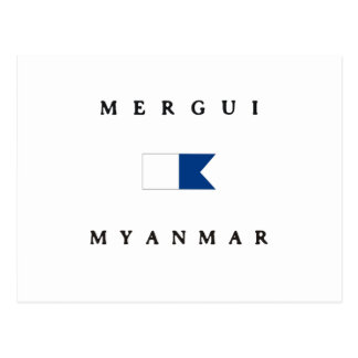 Mergui Myanmar Alpha Dive Flag Postcard