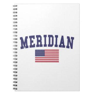 Meridian MS US Flag Notebooks