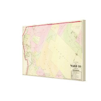 Merino Pond and Manton Pond Atlas Map Stretched Canvas Prints