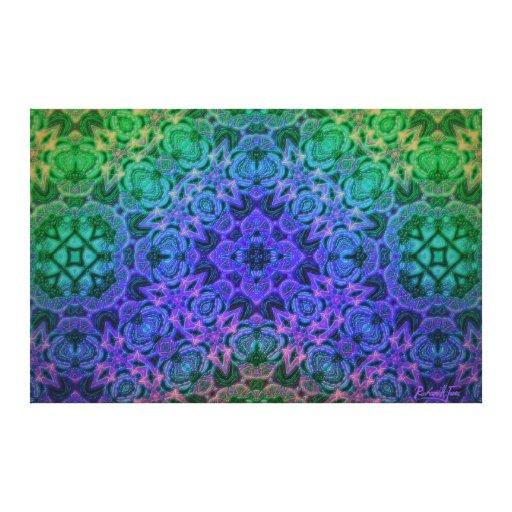 Merlin's Underwater Cottage Garden Mandala Canvas Prints