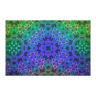 Merlin's Underwater Cottage Garden Mandala Canvas Print