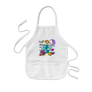 Mermaid 3rd Birthday T shirts and Gifts Kids Apron