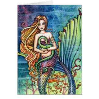 Mermaid and Sea Dragon Card by Molly Harrison