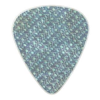 Mermaid Blue Green Chain Mail Metallic Under Sea Pearl Celluloid Guitar Pick