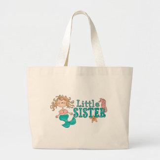 Mermaid Little Sister Large Tote Bag