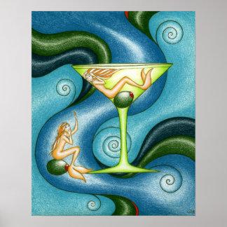 Mermaid Martini Poster
