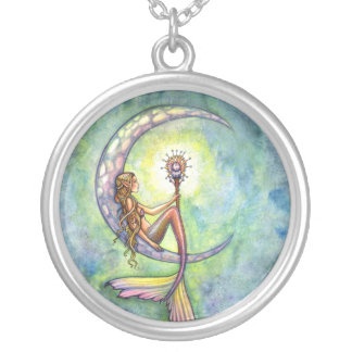 Mermaid Moon Sterling Silver Necklace