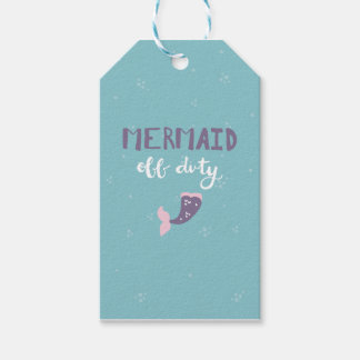 Mermaid Off Duty Gift Tags