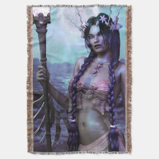 Mermaid Princess fantasy art throw