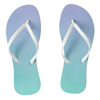 Mermaid Scales Flip Flops Thongs