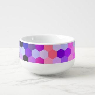 Mermaid Scales Lavender and Bittersweet Octagon Soup Mug
