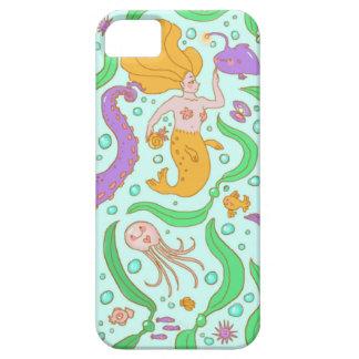 Mermaid & Seaweed Pattern iPhone 5 Cover