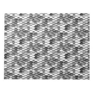 mermaid skin in black and white (pattern) notepad