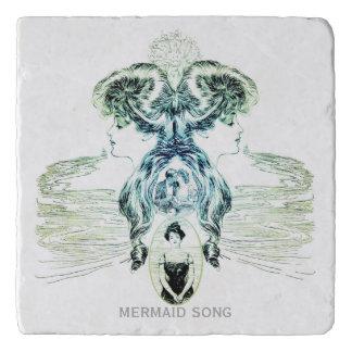 Mermaid Song Sea Green Ocean Blue Love Romance ADD Trivet
