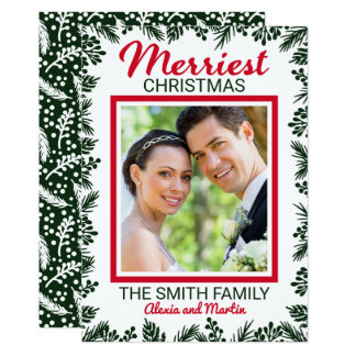 Merriest Wedding Photo Christmas Holiday Card