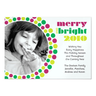 Merry and Bright 2010 Holiday Photo Card 13 Cm X 18 Cm Invitation Card