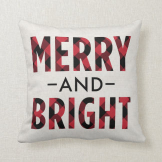Merry and Bright | Deep Red Buffalo Plaid Cushion