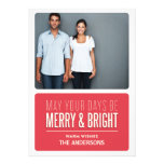 MERRY & BRIGHT | HOLIDAY PHOTO CARD PERSONALISED INVITE