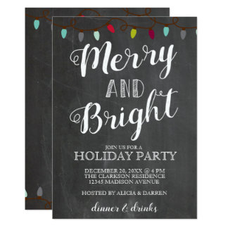 Merry & Bright Lights | Holiday Party Invitation