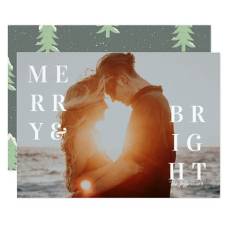 Merry & Bright Photo Holiday Card