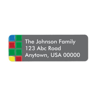 Merry & Bright Tiled Return Address Label