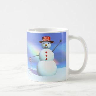 Merry Christmas 3D Snowman Coffee Mug